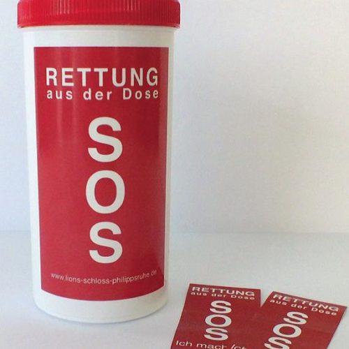 SOS Dose groß
